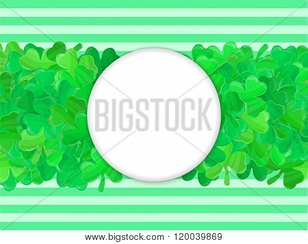Patricks Day Green Clover Frame Cartoon 3
