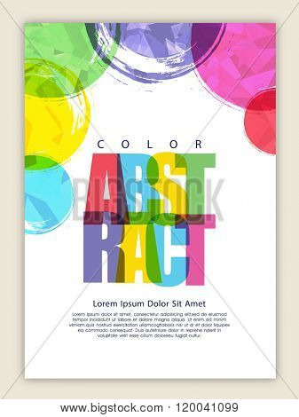 Colorful creative Abstract design decorated, Business Flyer, Banner, Pamphlet or Brochure.