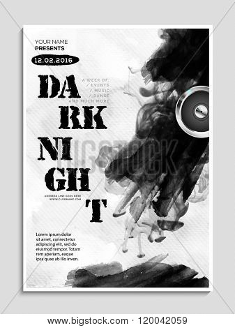 Night Party celebration Flyer, Banner or Pamphlet with abstract design.