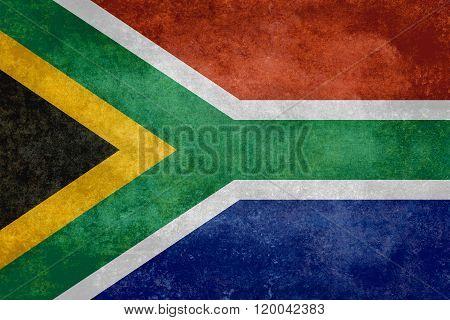 National Flag Of South Africa - Vintage Version