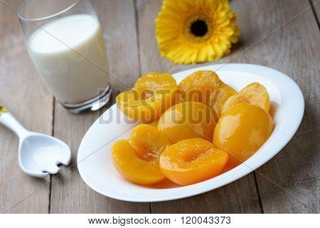 Peaches, milk and gerber