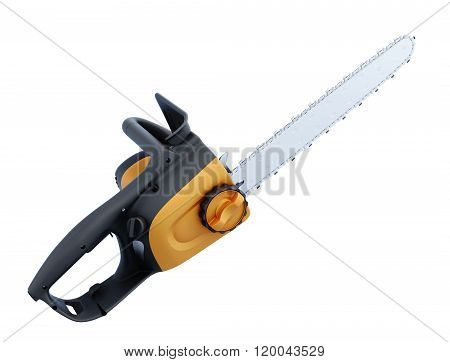 Electric hand saw on white background. 3d illustration