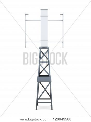 3d model of electricity generator on a white background. 3d rend