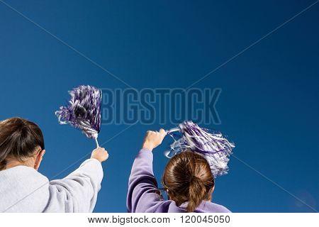 Girls cheerleading