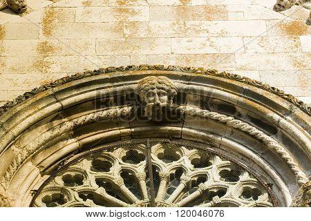 Korcula architecture beautiful detail taken in Croatia.