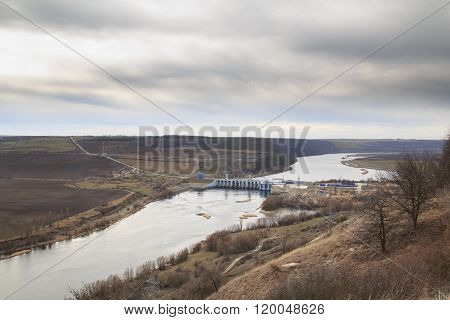River Dniester And Dam