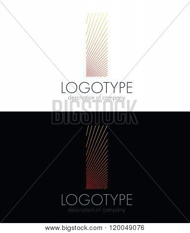 Letter I logo icon design template elements