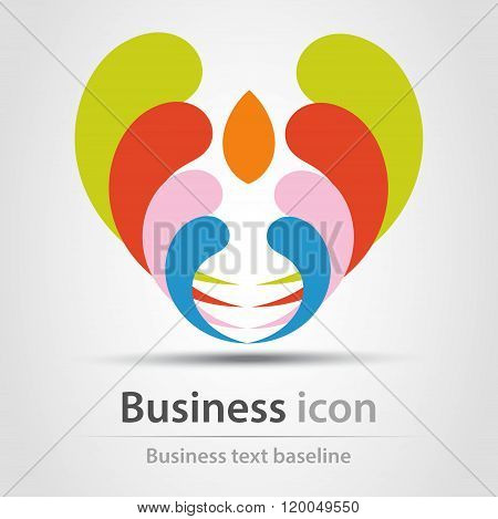 Rainbow Business Icon
