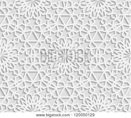 Seamless arabic geometric pattern east ornament indian ornament persian motif vector. Endless textur