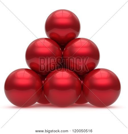 Pyramid sphere ball red hierarchy corporation top order leadership element teamwork stable group business concept shiny sparkling