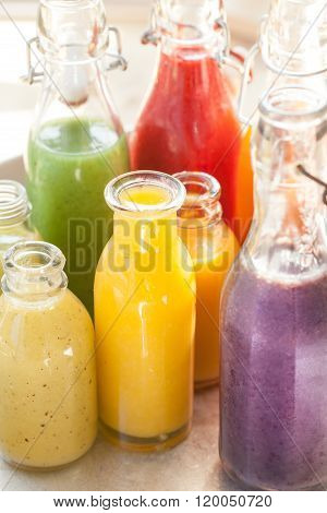 Variety Of Fresh Smoothies