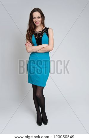 Full Length Portrait Of A Sexy Woman