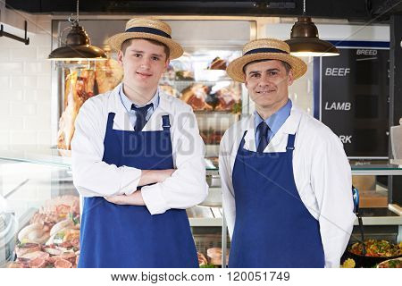 Portrait Of Butcher With Apprentice