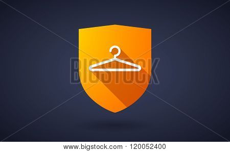 Long Shadow Shield Icon With  A Hanger
