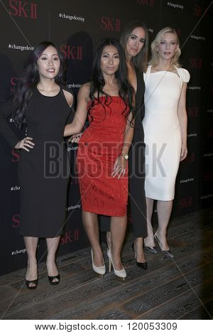 LOS ANGELES - FEB 26:  Michelle Phan, Anggun, Louise Roe, Cate Blanchett at the SK-II #ChangeDestiny Forum at the Andaz Hotel on February 26, 2016 in Los Angeles, CA
