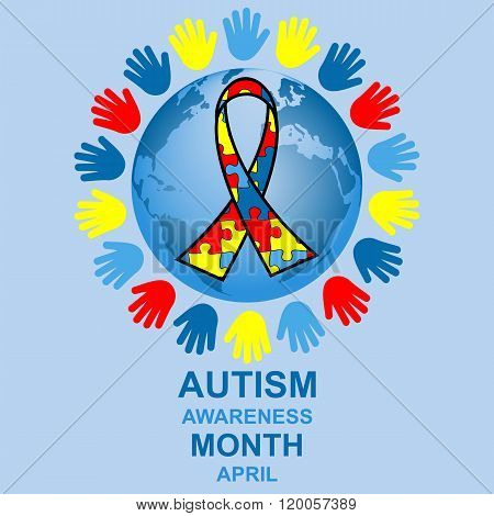 Autism awareness month design
