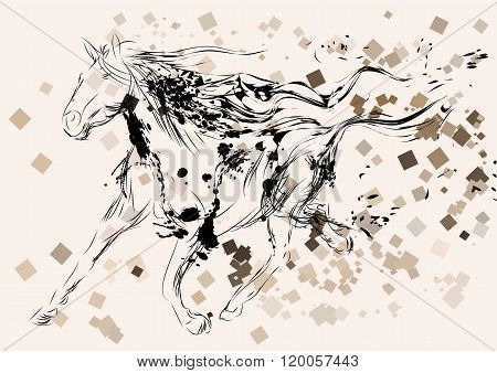 Horse Abstract Silhouette