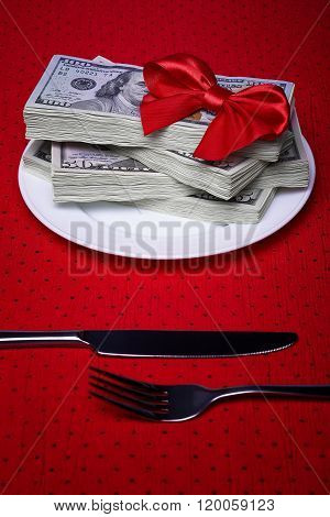 Money And Cutlery
