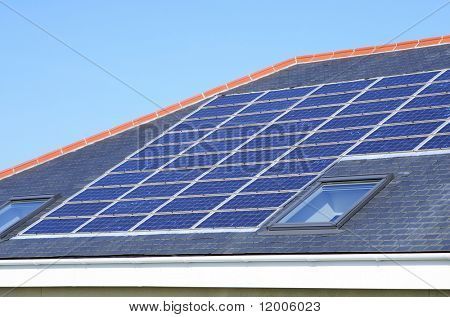 Solar Panels on a domestic house