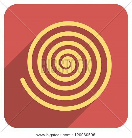 Hypnosis Flat Rounded Square Icon with Long Shadow