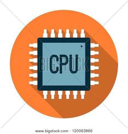 Processor icon flat