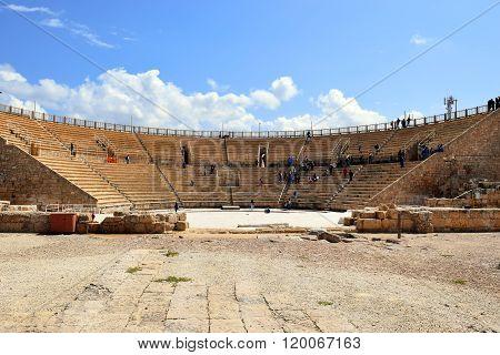 Amphitheater In Caesarea Maritima, National Park, Israel