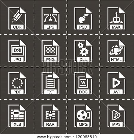 Vector File type icon set