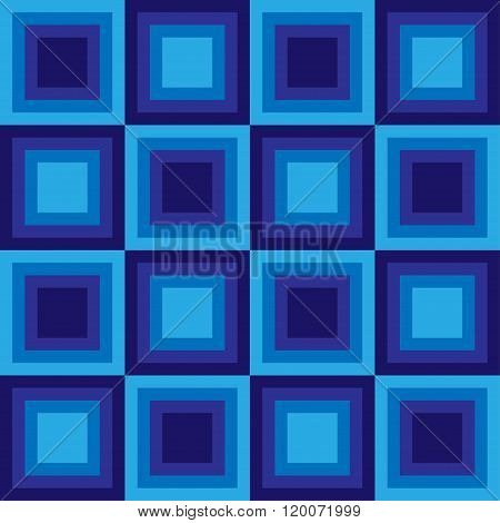 Squares floor seamless pattern blue colors