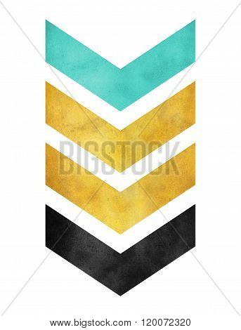 Green Gold And Black Chevron