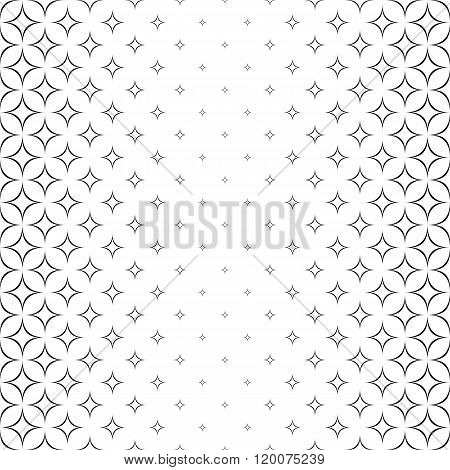 Seamless monochromatic abstract star pattern