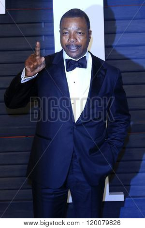 BEVERLY HILLS - FEB 28: Carl Weathers at the 2016 Vanity Fair Oscar Party on February 28, 2016 in Beverly Hills, California
