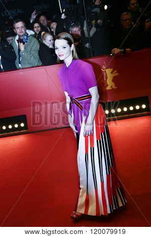 Karoline Herfurth attends the 'Hail, Caesar!' Premiere during the 66th Berlinale International Film Festival on February 11, 2016 in Berlin, Germany.