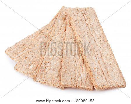 Crisp Bread Isolated On White