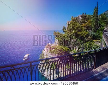 Sea coastline view Positano, Italy