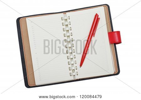 Diary With Red Pen
