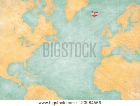 Map Of North Atlantic - Iceland