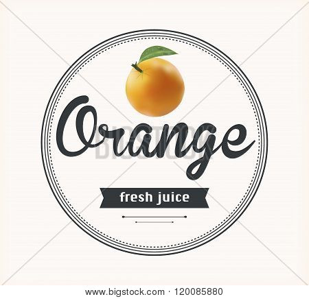 Orange juice. natural product