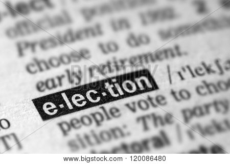 Election Definition Word Text