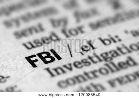 Fbi Definition Word Text