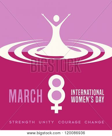 International Women's Day March 8, 2016 poster or banner design