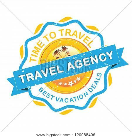 Travel agency grunge label