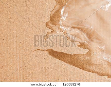 Retro Looking Brown Corrugated Cardboard Background