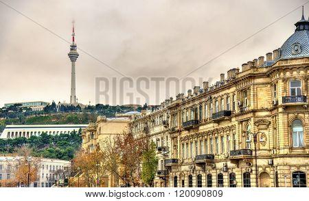 TV tower as seen from the embankment - Baku