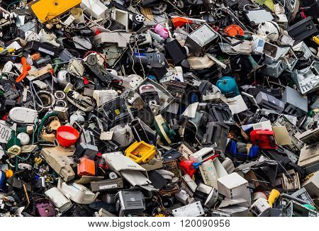 scrap metal in a junkyard