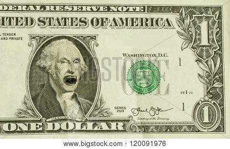 Angry Yelling George Washington