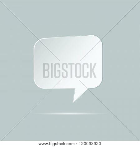 Speech Bubble Grey Illustration