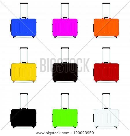 Travel Baggage Color Illustration