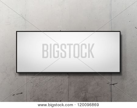 Blank outdoor mockup on concrete wall