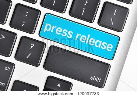 Keyboard  Button Written Word Press Release