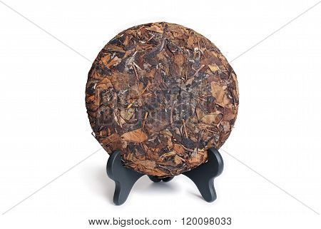 Puerh Raw Tea Cake Isolated